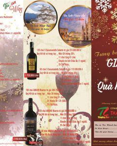 Khuyến mãi Giáng Sinh: Mua rượu vang - Nhận quà tặng