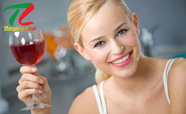 làm đẹp với rượu vang