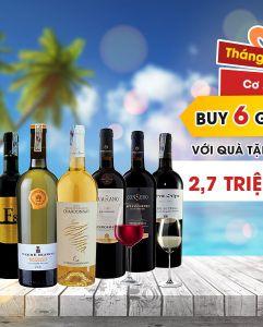 Big Sale tháng 7: Mua vang Ý chính hãng nhận quà giá trị lên đến 2,7 triệu đồng
