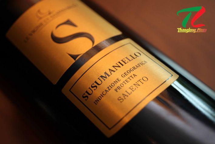 Rượu vang S Susumaniello Salento - chai vang Ý sở hữu hương vị tươi mới đánh thức mọi giác quan